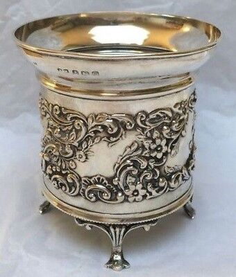 Unique Sterling Silver Bottle Coaster 1911 For A Small Bottle by Henry Matthews