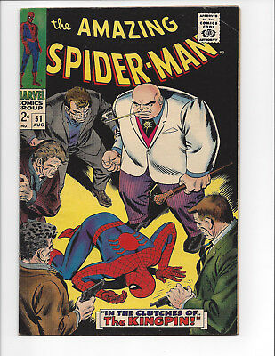 The Amazing Spider-Man #51 Marvel Silver Bronze Age VF- Key 2nd Kingpin