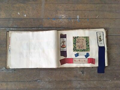 Antique 1800s Album Collection Of Cross Stitch Samples Embroidery 165 Pieces