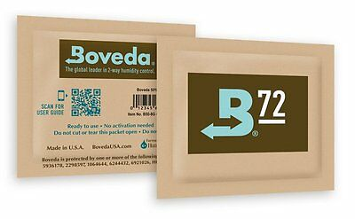 Boveda Humidipak 8 Gram (Medium) 10 Pack 2-way Humidity Control 72% RH Boveda