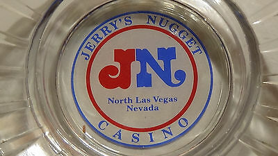 Jerry's Nugget ( Red Blue Fancy Logo ) ( Las Vegas Nv  Casino Ashtray