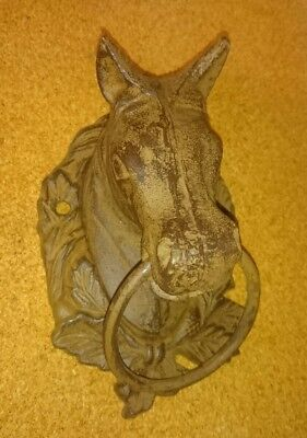 Cast Iron Antique Horse Head Door Knocker