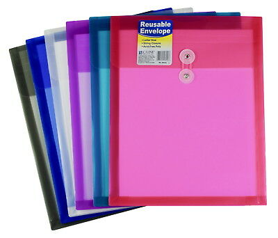 C-Line Reusable Poly Envelope with String Closure, Top Load, Set of 24