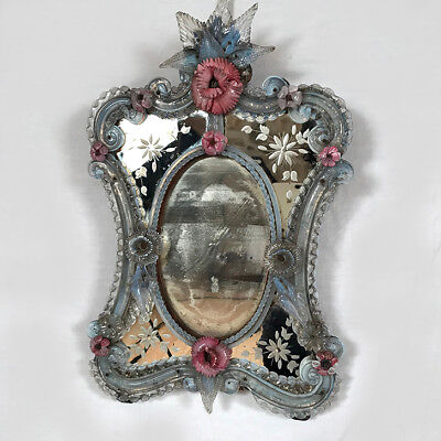 Antique mirror glass from venice