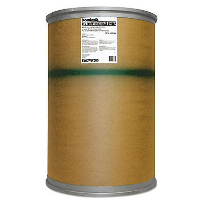 Boardwalk Blended Wax-Based Sweeping Compound Red Grit-Free 150lbs Drum W6COHO