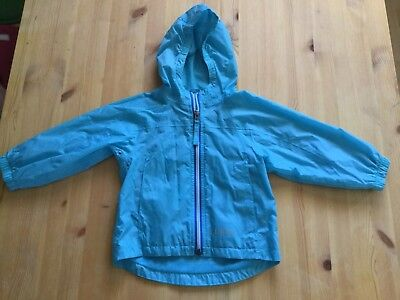 L.L. Bean Windbreaker Jacket, Turquoise Blue, Size 2T