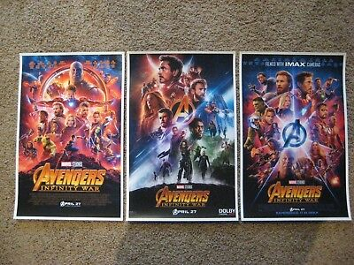 "Avengers - Infinity War ( 11"" x 17"" ) Movie Collector's Poster Prints (Set of 3)"