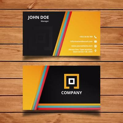 1000 Printing Custom Business Cards - FREE Design FREE Shipping-