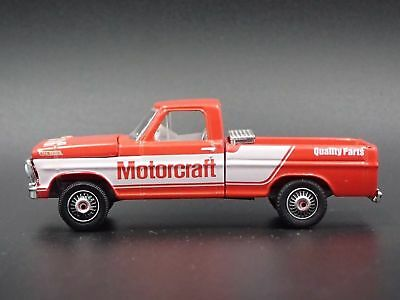 1967 Ford F-100 Pickup Truck Motorcraft Red With Tool Box Diecast Scale 1/64 New