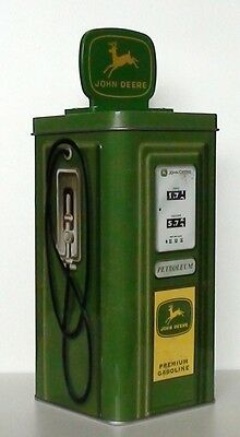 John Deere Petrol Pump Tin Money Box New