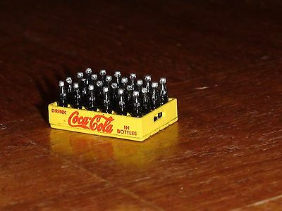 Miniature Crate Of Coca Cola (Red Writing On Coke Crate) Diorama Scale 1/24 New