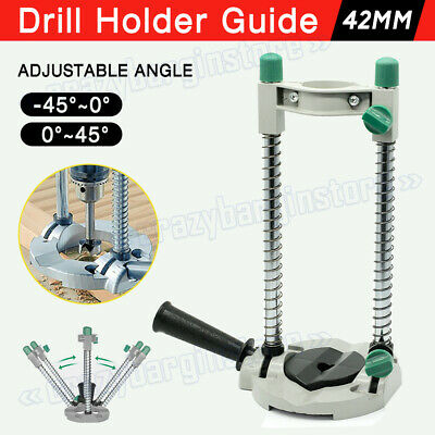 Drill Guide Drill Stand 45° Adjustable Electric Drill ∅ 42mm Mobile Swivel Bench