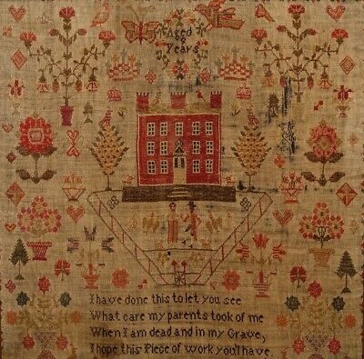 Very Beautiful Early Mansion House Sampler - Eliza Whiteley
