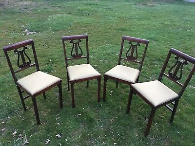Leg O Matic Vintage Folding Chairs Suite / 4