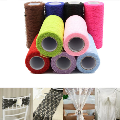 15cm 10Yards Tulle Organza Roll Fabric Gauze Table Home Wedding Party Decoration