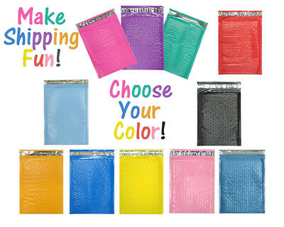 """10 x 16"""" Choose Colors Poly Bubble Mailers, Shipping Padded Envelopes, 10.5 x 15"""