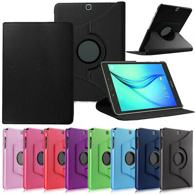 """For Samsung Galaxy Tab A S2 E 10.1"""" 9.7"""" 8"""" 7"""" 360° Rotate PU Leather Case Cover"""