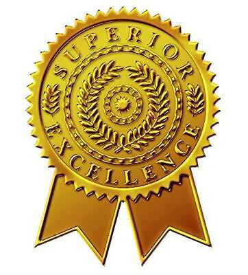 """Great Papers! Starburst Ribbon Embossed and Gold Foil Certificate Seal, 1.75"""","""