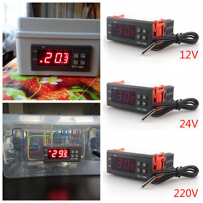 Digital Thermometer Temperature Controller Thermostat Incubator LED Display H/C