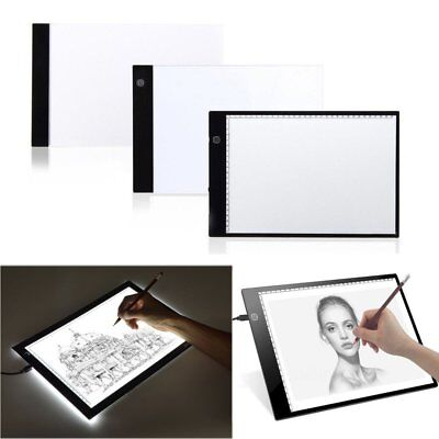 A4 LED Art Artist Tattoo Stencil Board Light Tracing Drawing Pad Table Box USB