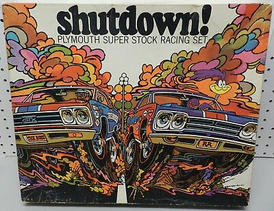 1969 69 Shutdown Slot Car Race Game Plymouth Roadrunner Gtx Dealer Promo Mopar