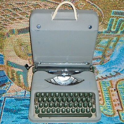 Vintage Hermes Baby by Paillard Portable Typewriter with the Case - Works Great