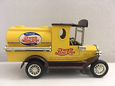 Pepsi Cola Truck Coin Bank Golden Classic Die cast Truck