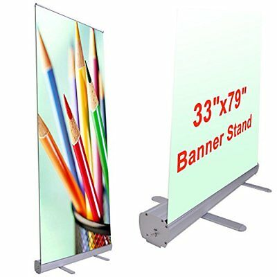 """Wholesale 33""""x79"""" Economy Retractable Roll up Banner Stand Display Aluminum P..."""