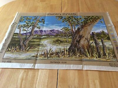TAPESTRY CANVAS - OUTBACK GUM - COUNTRY THREADS - canvas only