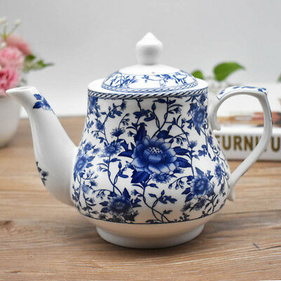 Blue and white porcelain teapot Ceramic teapot Heat-resistant filter tea pot