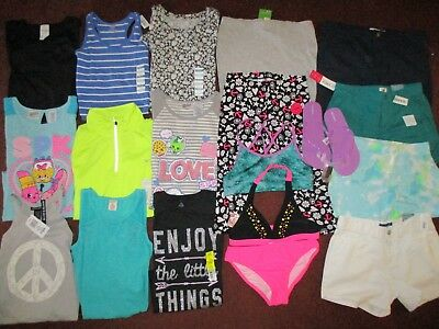 NWT'S Girls Size 12 SPRING & SUMMER Lot Clothes & Outfits Wardrobe