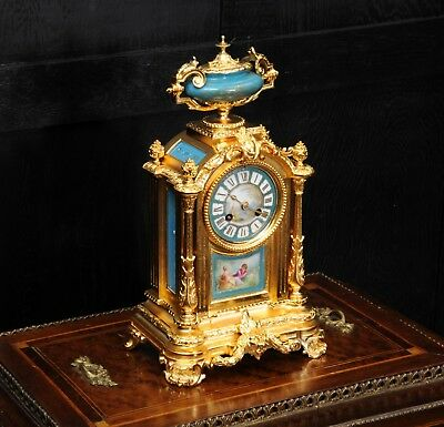 ORMOLU AND SEVRES PORCELAIN BOUDOIR CLOCK BY LE ROY et FILS PARIS C1880