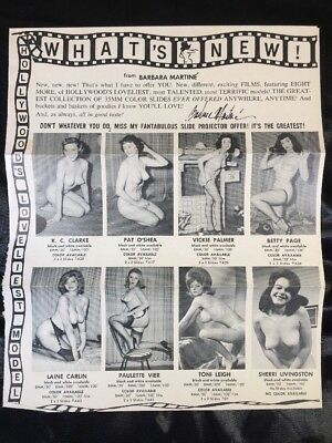 Vintage 50's Nude Photos & Stag Film Slide Mail Catalog Bettie Page Risqué Pinup