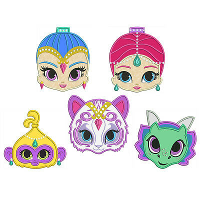 Shimmer & Shine * Machine Applique Embroidery Patterns ** 5 Designs, 4 sizes