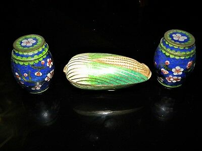 3 Cloisonne containers