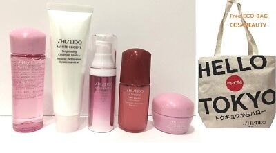 SHISEIDO WHITE LUCENT TRAVEL KIT 5pc with ECO BAG