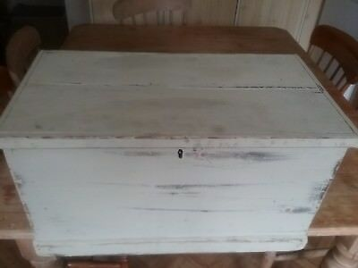 Victorian painted pine box