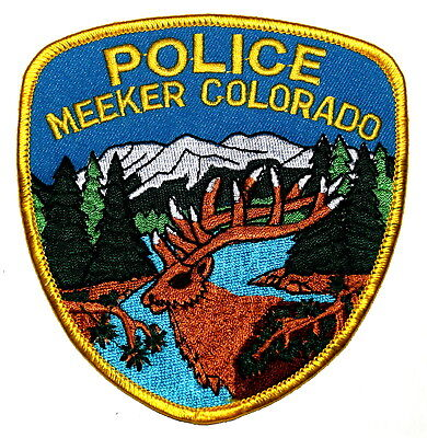 MEEKER COLORADO CO Police Sheriff Patch DEER STAG CARIBOU MOUNTAINS ~
