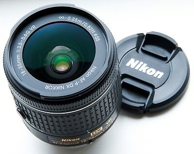 NIKON DX MOUNT AF-P NIKKOR 18-55mm f/3.5-5.6 G VR ZOOM LENS LATEST AF-P VERSION