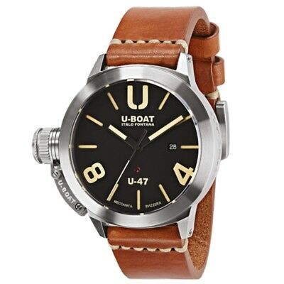 U-Boat Classico U-47 AS 1 Black Dial Stainless Steel 47mm Automatic Watch 8105