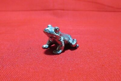 Pewter Toad Frog Figurine