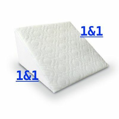 Acid Reflux Flex Foam Support Bed Wedge Pillow Removable Zip Quilted Cover