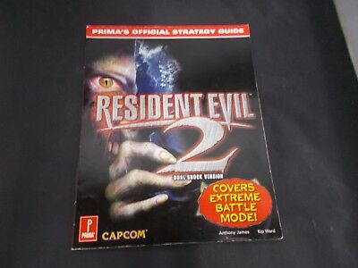 PS1 N64 Dreamcast Primas Official Strategy Game Guide RESIDENT EVIL 2