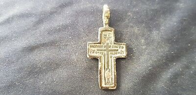 Beautiful intact Post Medieval bronze Crucifix, please read description. L101b