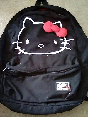 4fb00c093fd3 LIMITED EDITION VANS HELLO KITTY backpack rucksack bag black red bow ...