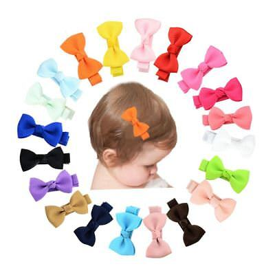 """20 Pcs/Lot Grosgrain 2"""" Hair Bow with Alligator Clips for Baby Girl Toddlers Kid"""