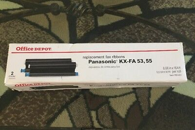1 X Office Depot Replacement Fax Ribbon KX-FA53, 55 For Panasonic Machines