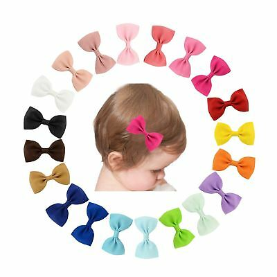 """20 Pcs/Lot Grosgrain 2.8"""" Hair Bow with Alligator Clips for Baby Girl Toddlers K"""