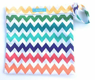 Unisex Wet Bags for Baby Cloth Diapers and Inserts Rainbow
