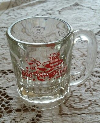 "Vintage Dog N Suds Root Beer Glass Mug 4 1/4"" Tall"